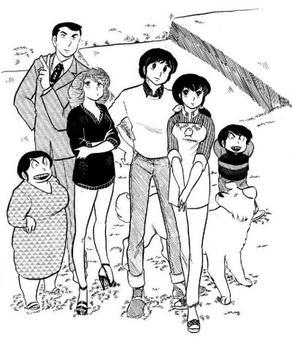 From left to right: Mrs Ichinose, Mr Yotsuya, Akemi Roppongi, Yusaku Godai, Kyoko Otonashi, Kentarou Ichinose, Mr. Soichiro (Wikipedia)