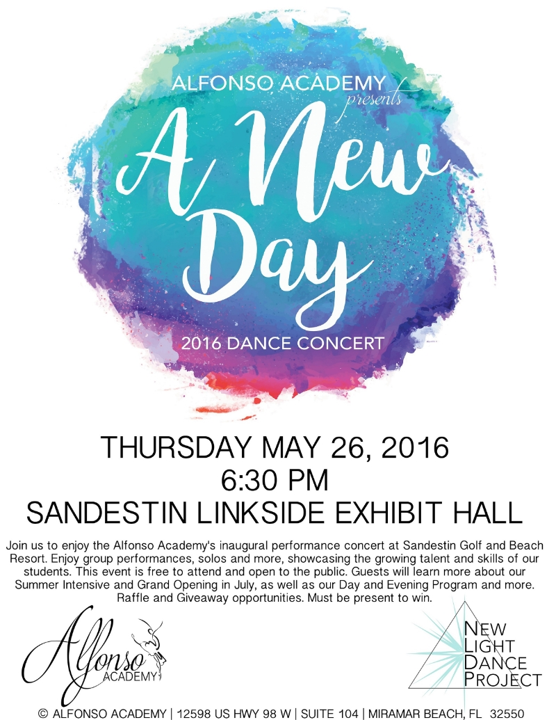 Alfonso Academy Dance Concert Sandestin South Walton