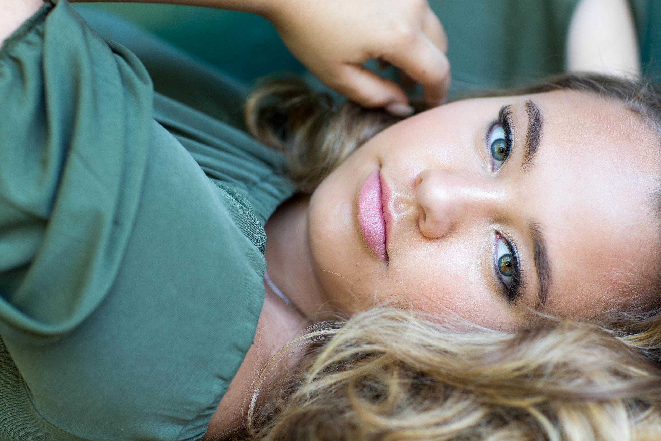 Portrait of green eyed girl