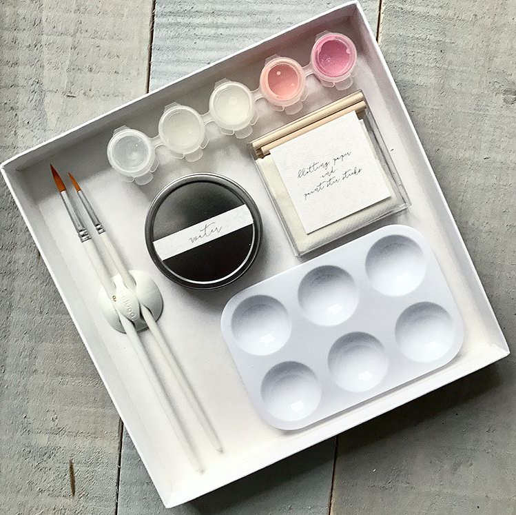 CONTENTS OF WATER COLOR BOX