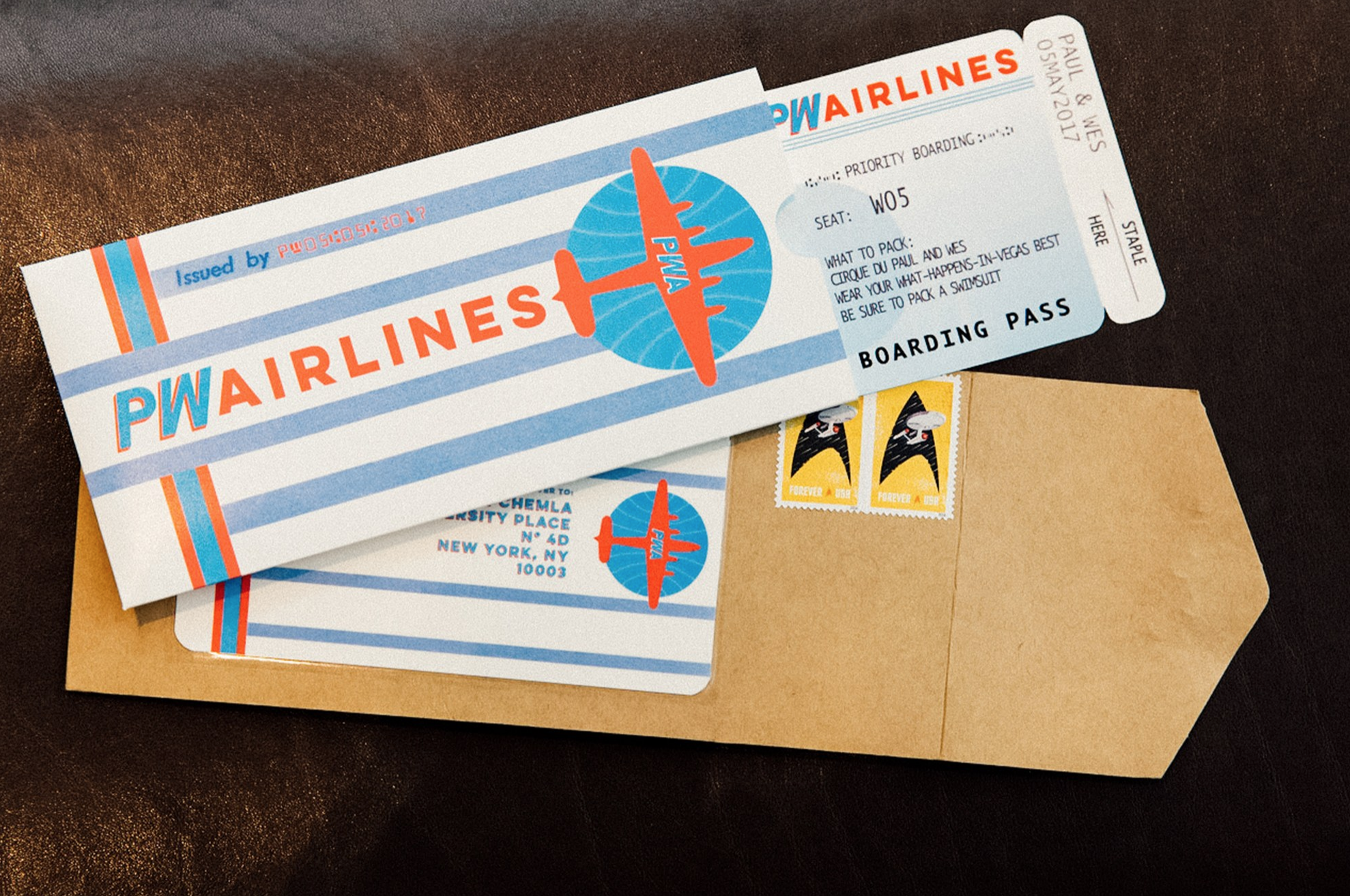 CUSTOM PLANE TICKETS