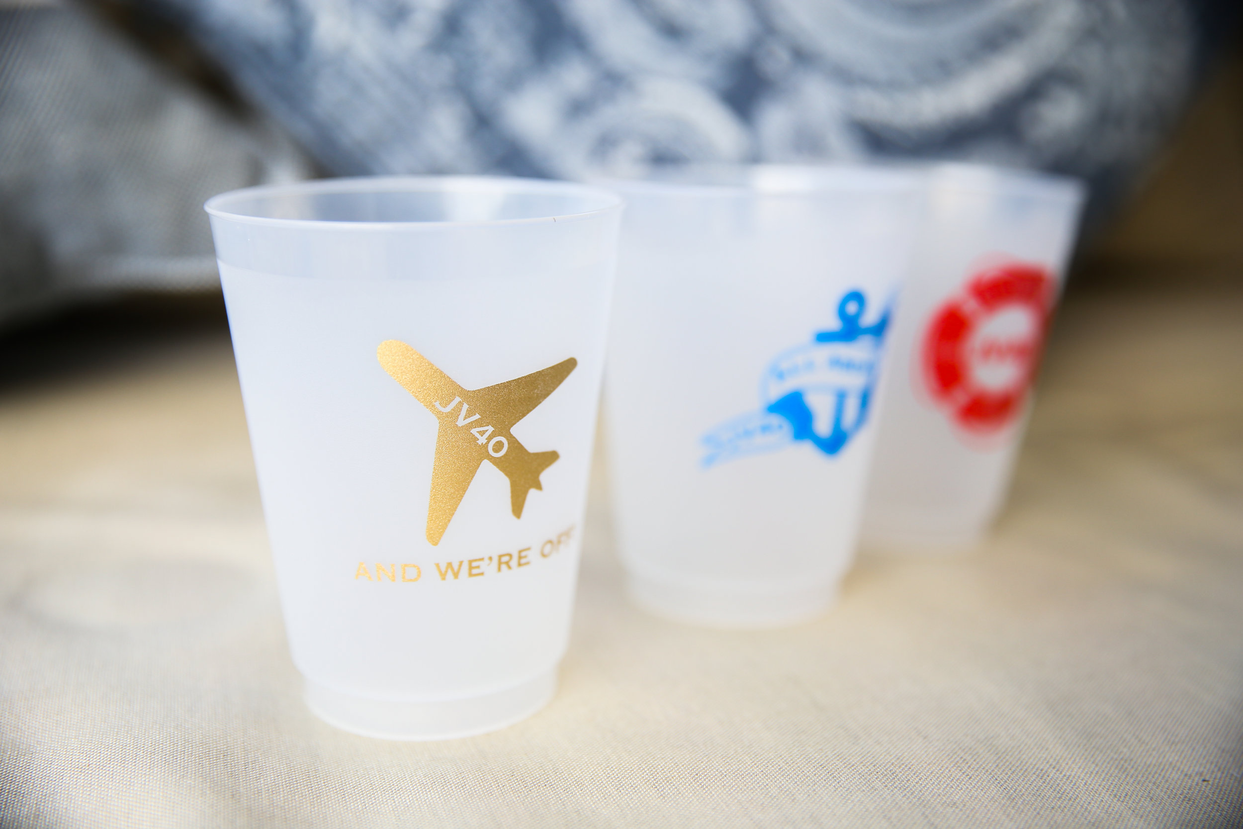 BRANDED 40TH BIRTHDAY CUPS