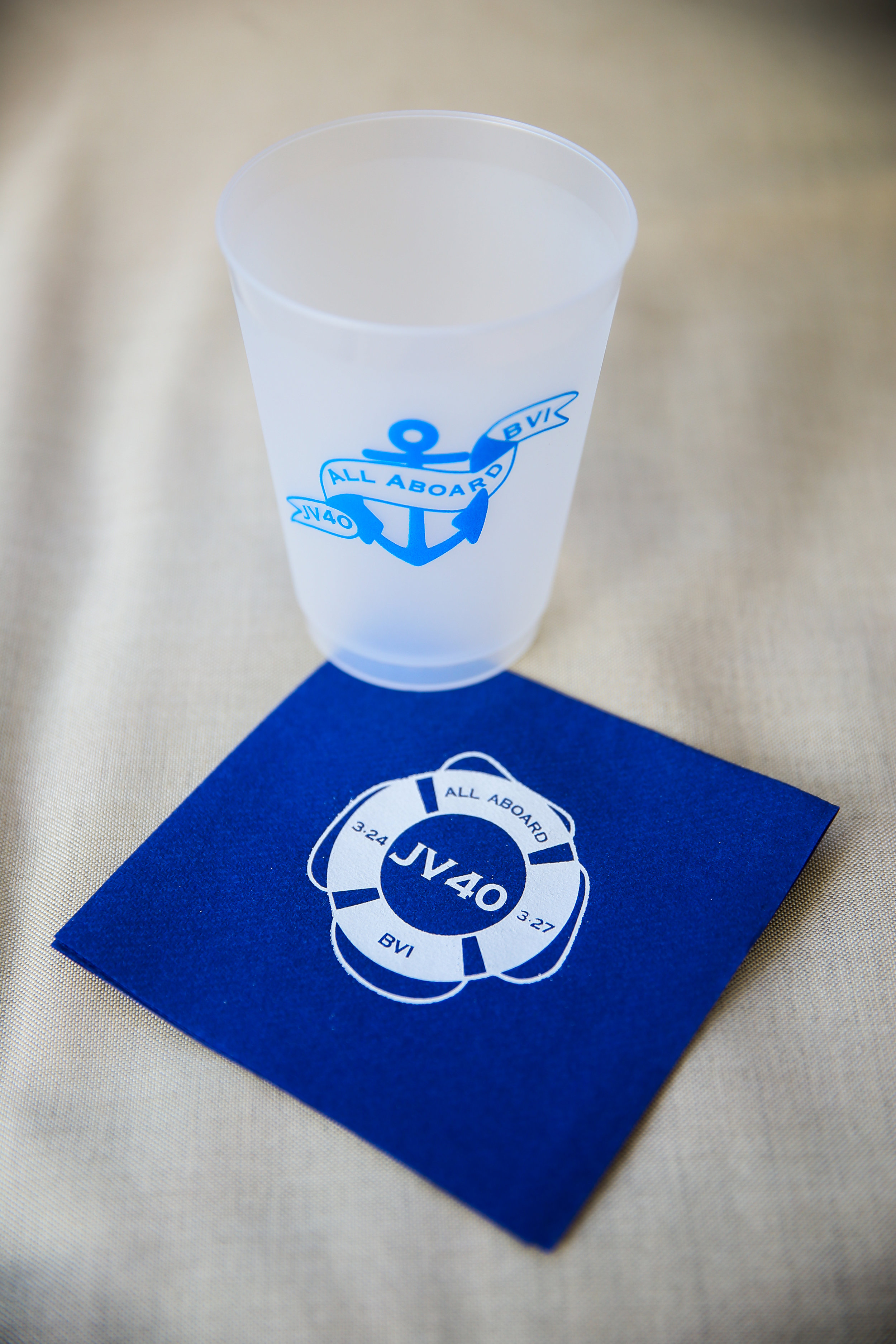 BRANDED 40TH BIRTHDAY CUPS & NAPKINS