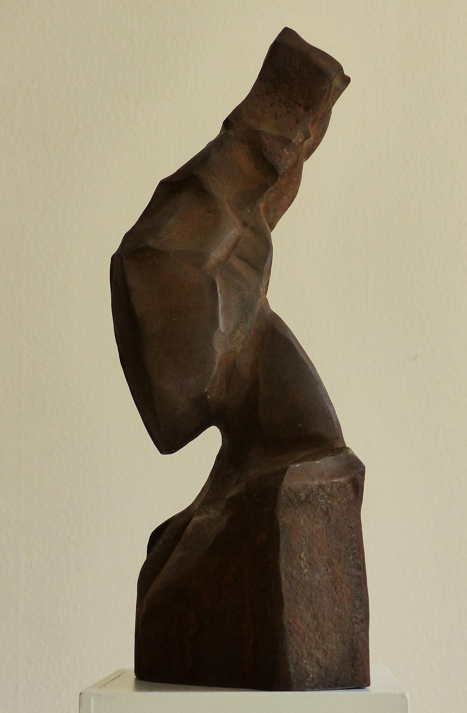 Chris Kircher, Mädchenkkopf, 2016, Stahlschrott, geschweißt
