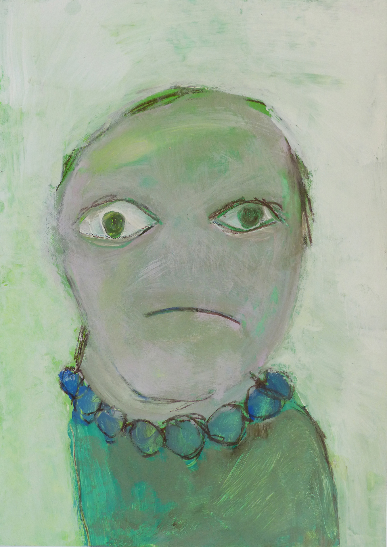 Chris Kircher, 2015, aus der Serie meeting the unconscious. Gouache on stone paper