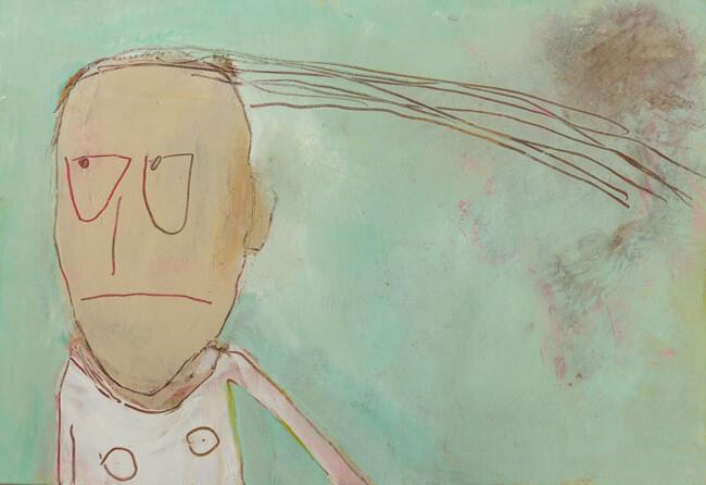 Chris Kircher, Malerei aus der Serie grumpy, w+t.jpg