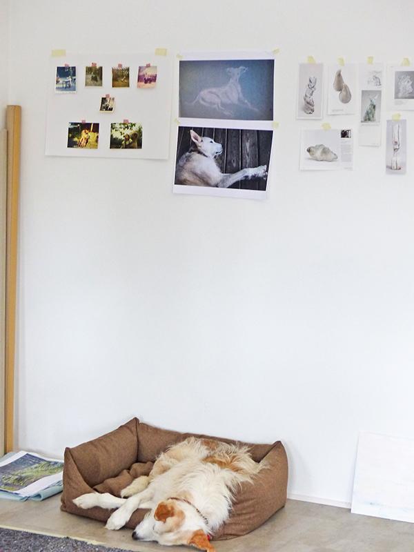 The sleeping model, CKCK Residency at Claudia Grom's studio, Bad Kissingen. Image: Chris Kircher