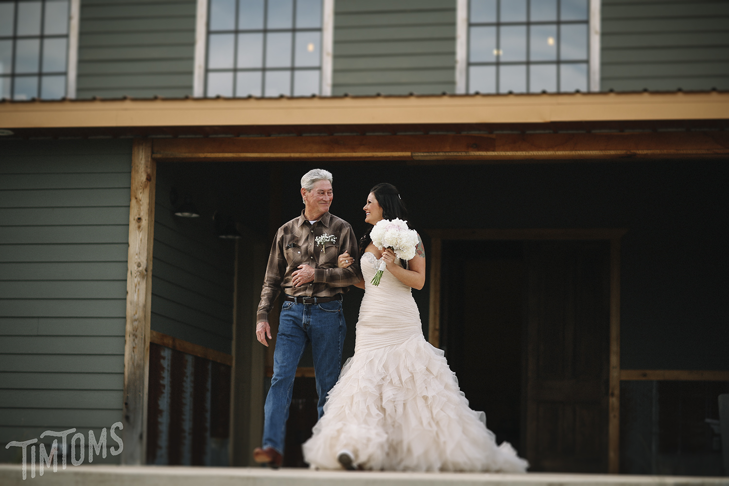 Father Daughter Down the Aisle Wedding