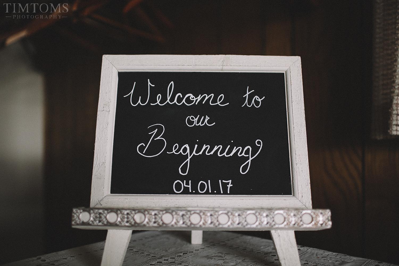 Wedding Entry Sign