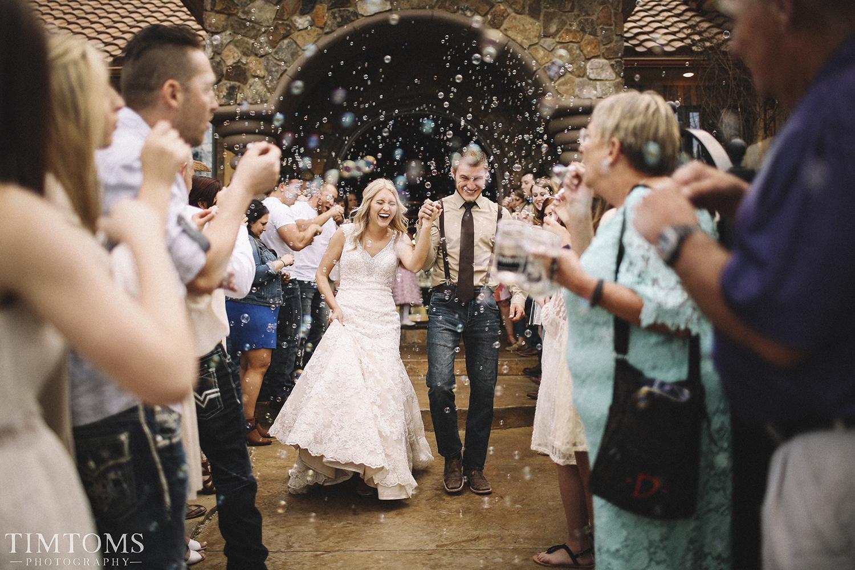 Bubble Send off wedding ceremony
