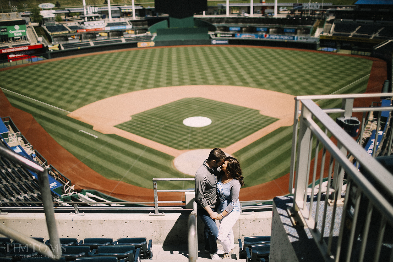 Engagement Photography MLB Stadium