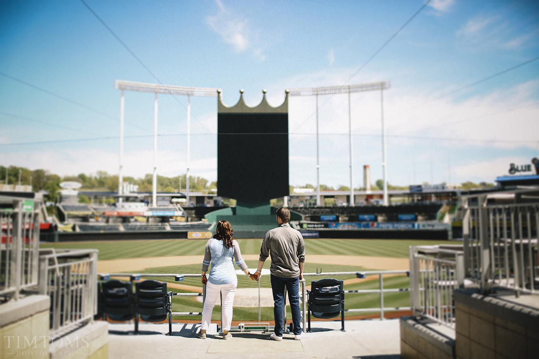 Kansas City Royals Kaufmann Stadium Engagement Photo Shoot