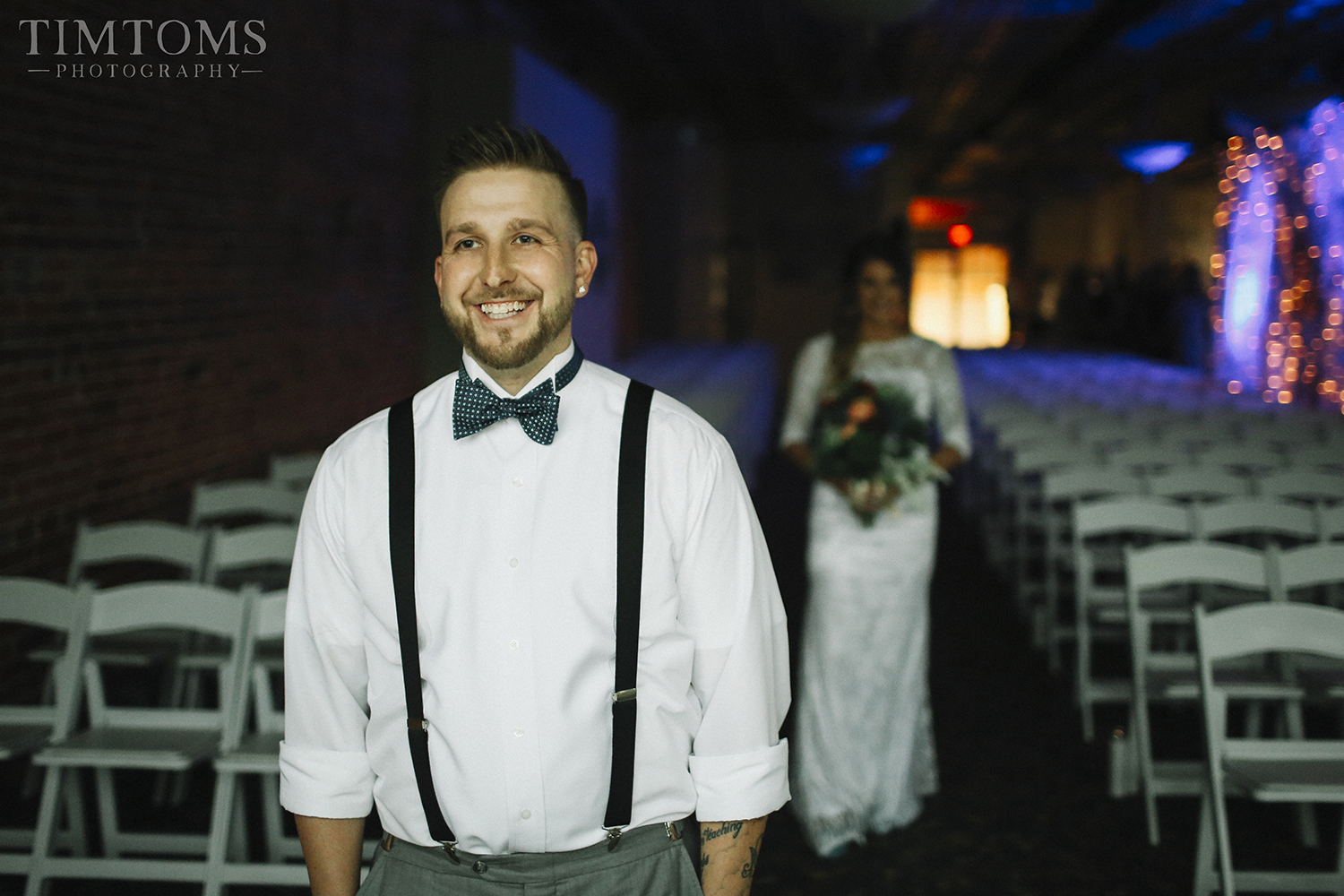 Wedding Photography bride groom first look reveal