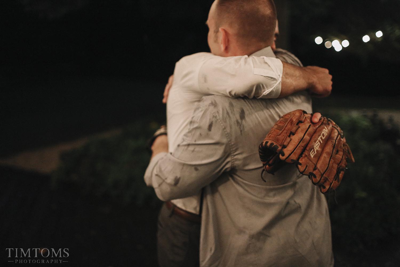 Father Son Hug Wedding Baseball