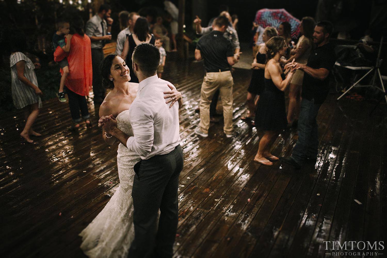 Bride Groom Umbrella Wedding Rain First Dance