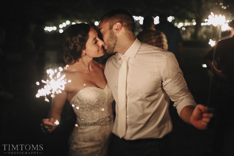 Sparkler Exit Wedding