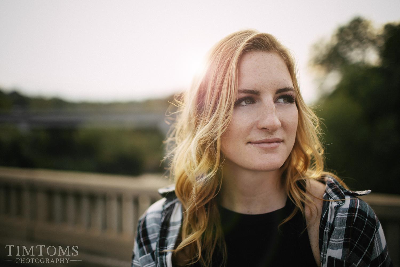 Senior Portrait Photographer Joplin Missouri sunset bridge