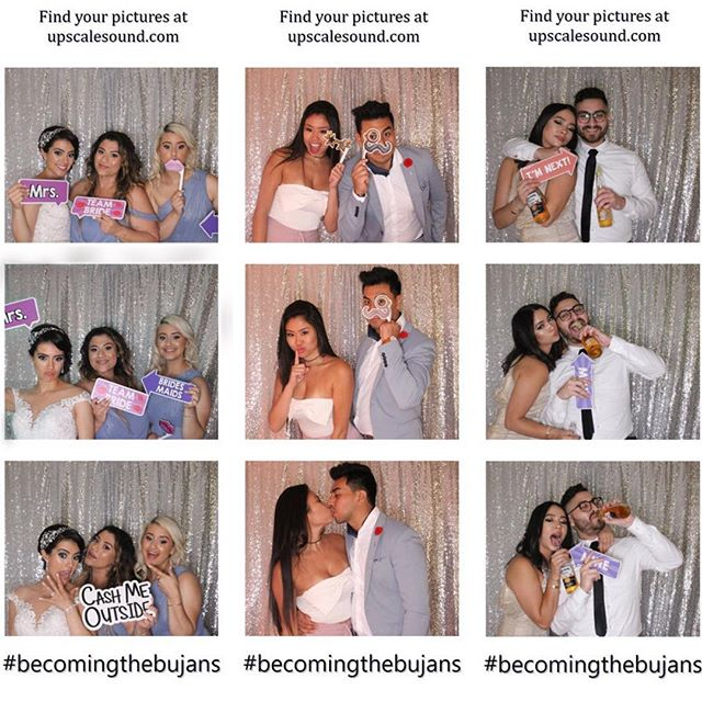The weekend is here, and we are ready! Some Photobooth shots from last Saturday's Wedding. Customizable strips ✔️ #wedding #photobooth #upscalesound #photoboothfun #hashtag #party #weddingsofinstagram