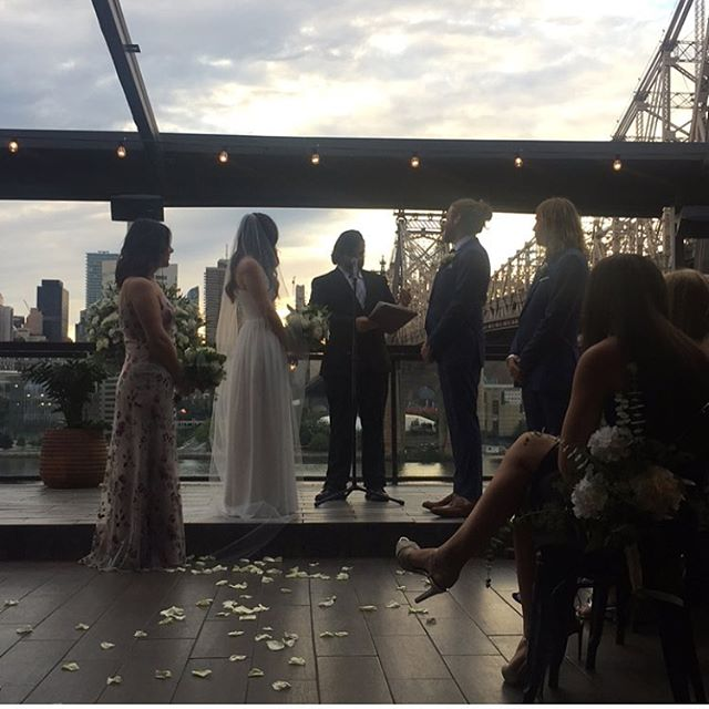 Beautiful day for a rooftop wedding. @ravelhotel #penthouse808 #upscalesound #bestofweddings #theknot