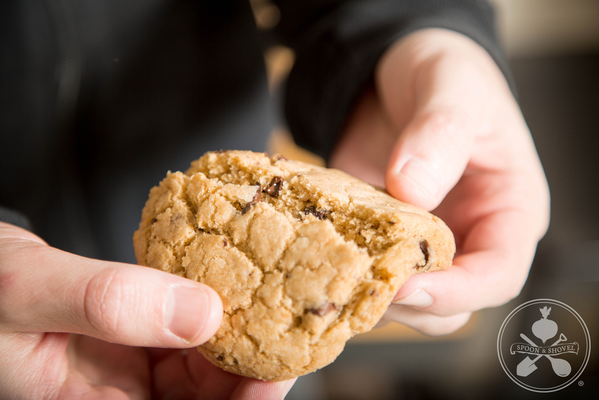 Classic chocolate chip cookies veganized by the Spoon + Shovel