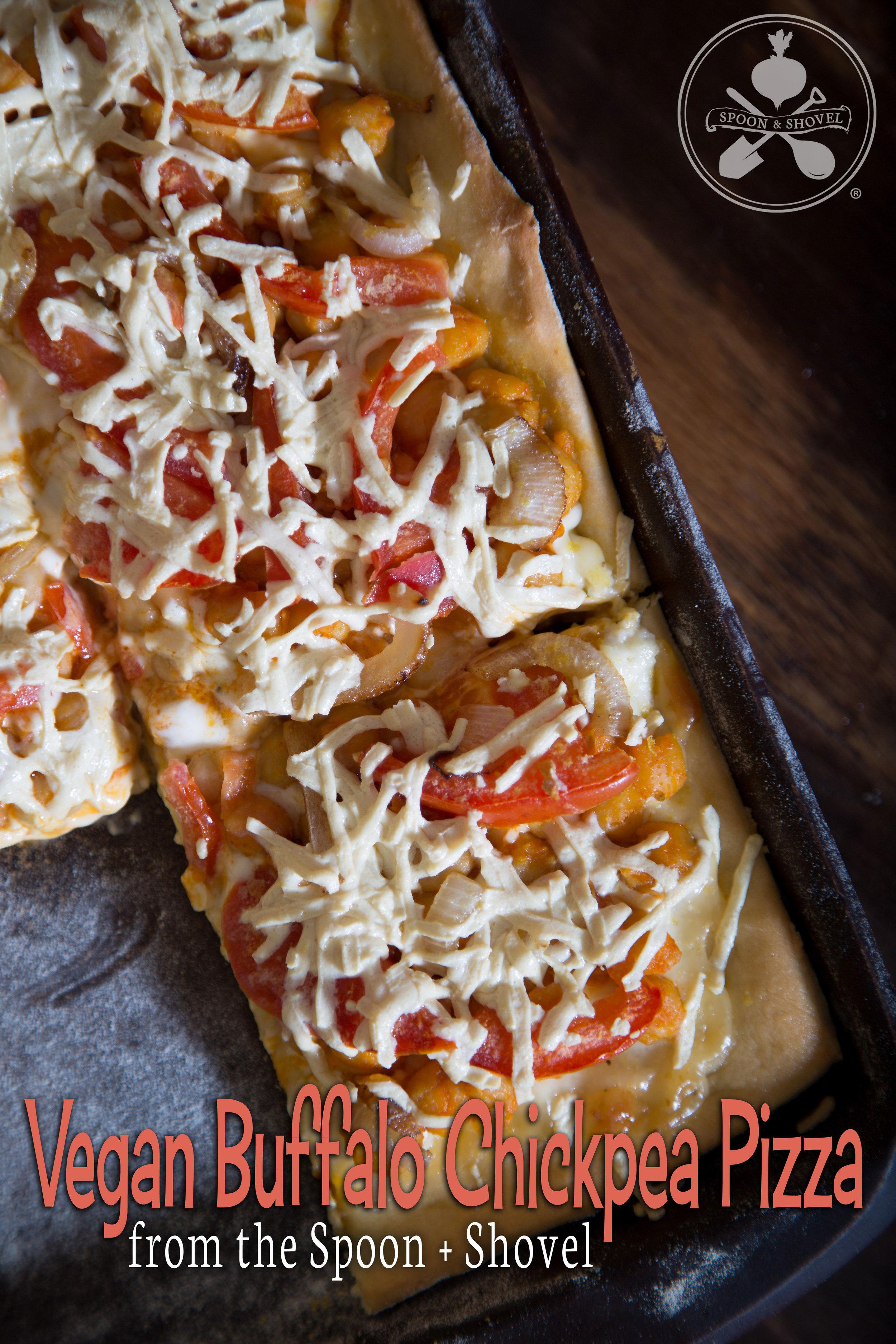 Vegan buffalo chickpea pizza from The Spoon + Shovel