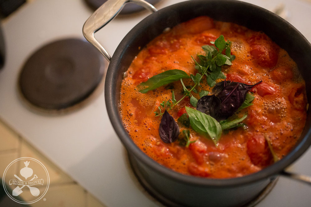 Easy homemade tomato sauce from The Spoon + Shovel