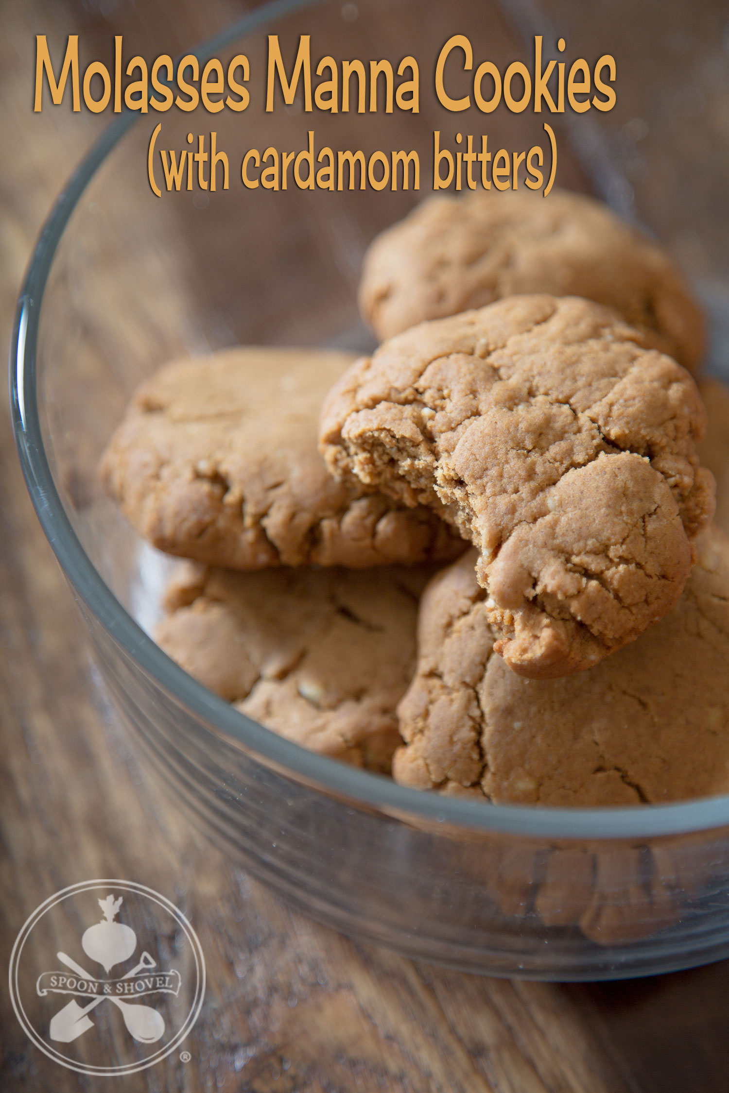 Molasses manna cookies with cardamom bitters from The Spoon + Shovel