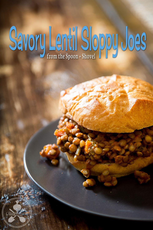 Vegan lentil sloppy joes from The Spoon + Shovel