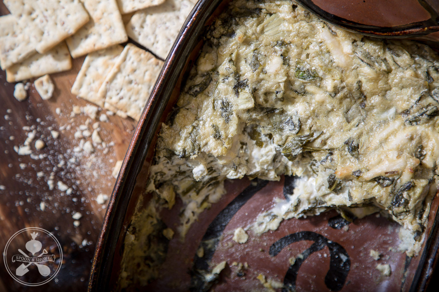 Vegan, soy-free spinach artichoke dip from The Spoon + Shovel