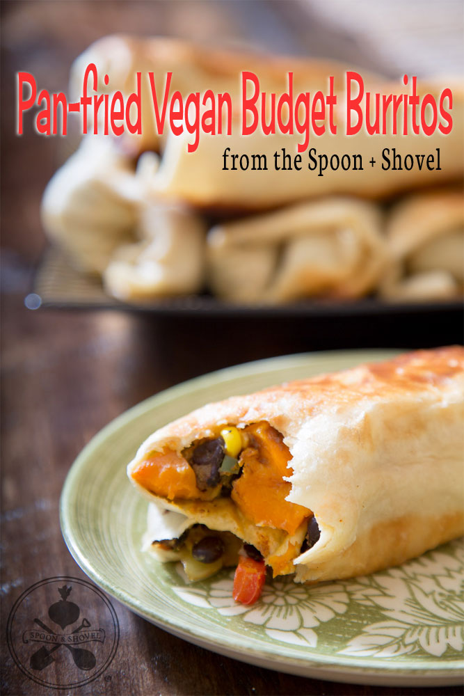 Pan-friend Vegan Budget Burritos from The Spoon + Shovel
