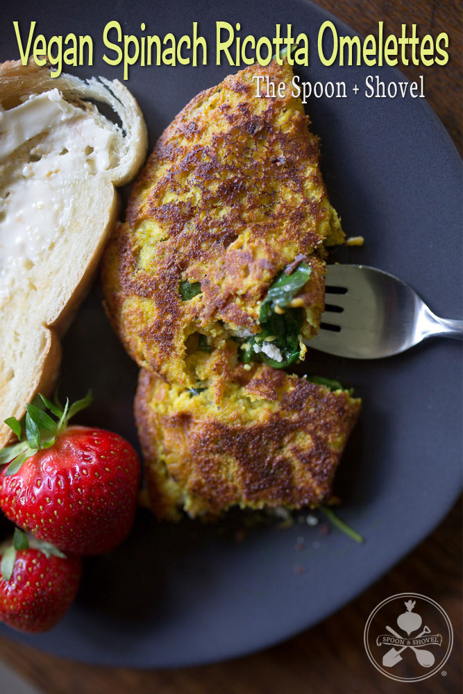 Vegan Spinach Ricotta Omelettes from The Spoon + Shovel