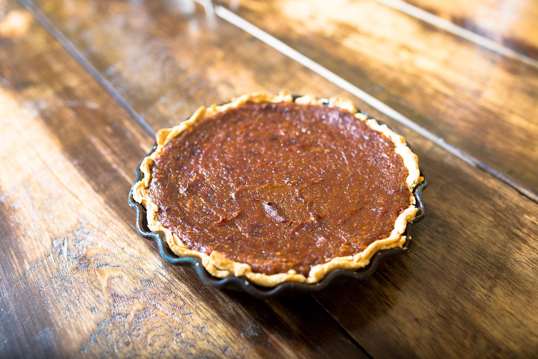 Vegan bourbon pumpkin pie from The Spoon + Shovel