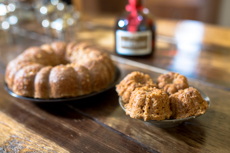 Vegan orange spice bundt cakes w/ Grand Marnier glaze from The Spoon + Shovel