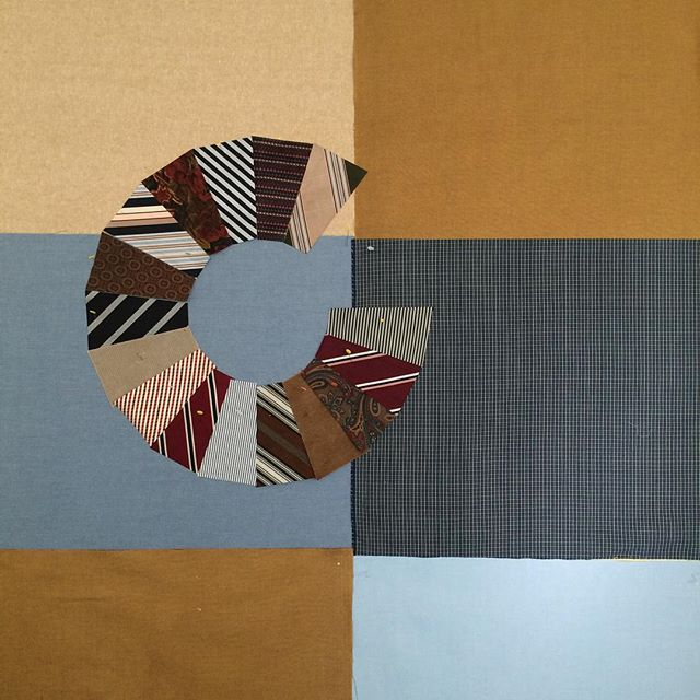Manly quilt in progress! #necktiequilt #modernquilt #redllamastudio