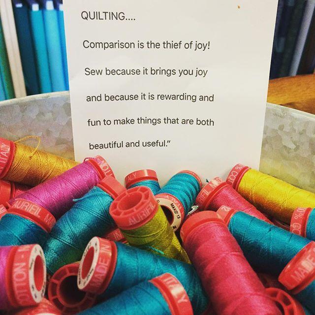 Quilter's wisdom! #redllamastudio #modernquilts #Nashville #craftsouth