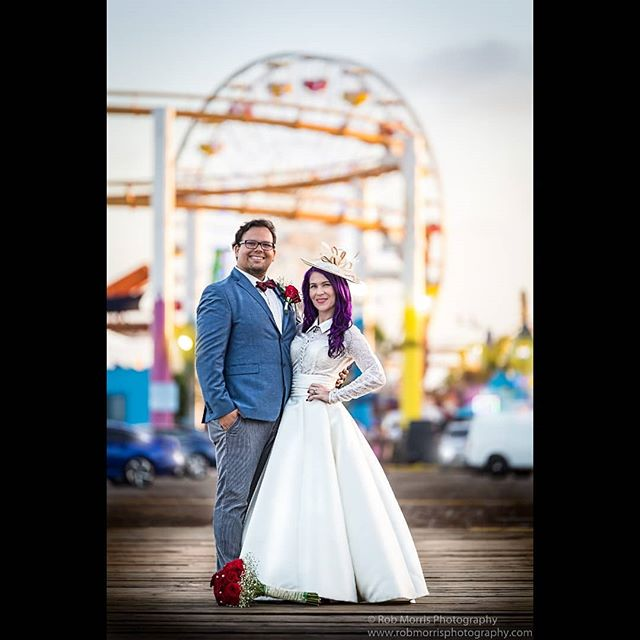 Weddings can make an already awesome place just that much more awesome! This is from a recent wedding we shot at the Santa Monica Pier, a very crazy and fun place to shoot! If YOU need a wedding photographer, please contact us 951-251-4281 - our prices start at$1200 and include TWO photographers on the wedding day! . . . . . . #weddingphotographer #wedding #weddingwire #theknot #bride #groom #photographer #santamonica #married #justmarried #weddingdress #bridal #inlandempire #riverside #sandiego #temecula #murieta #menifee #love #marriage #couplegoals