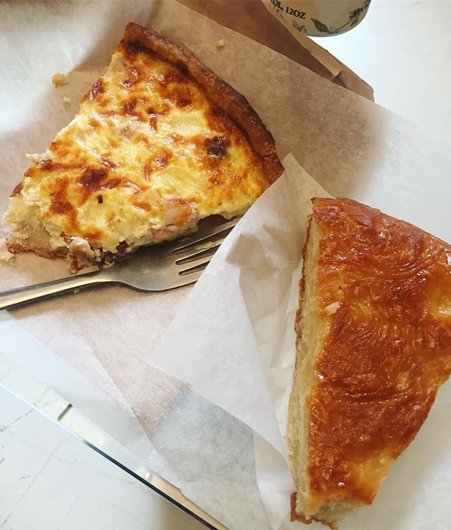 Quiche Lorraine and some delicious mystery baked good 💕