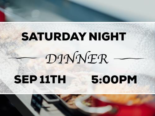 September Saturday Night Dinner