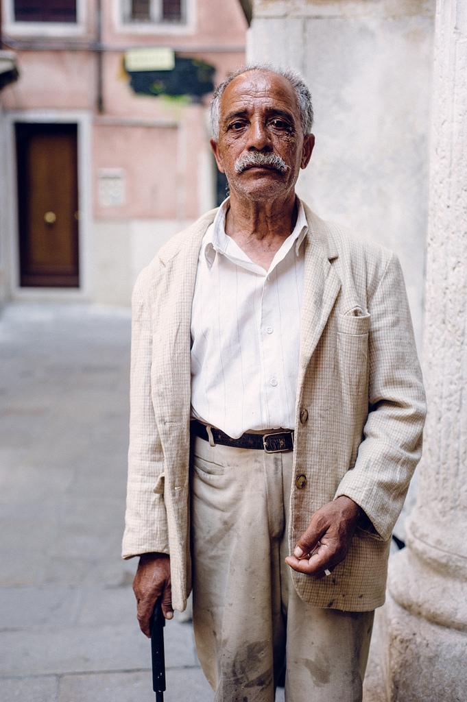Beggar in Venice, Italy