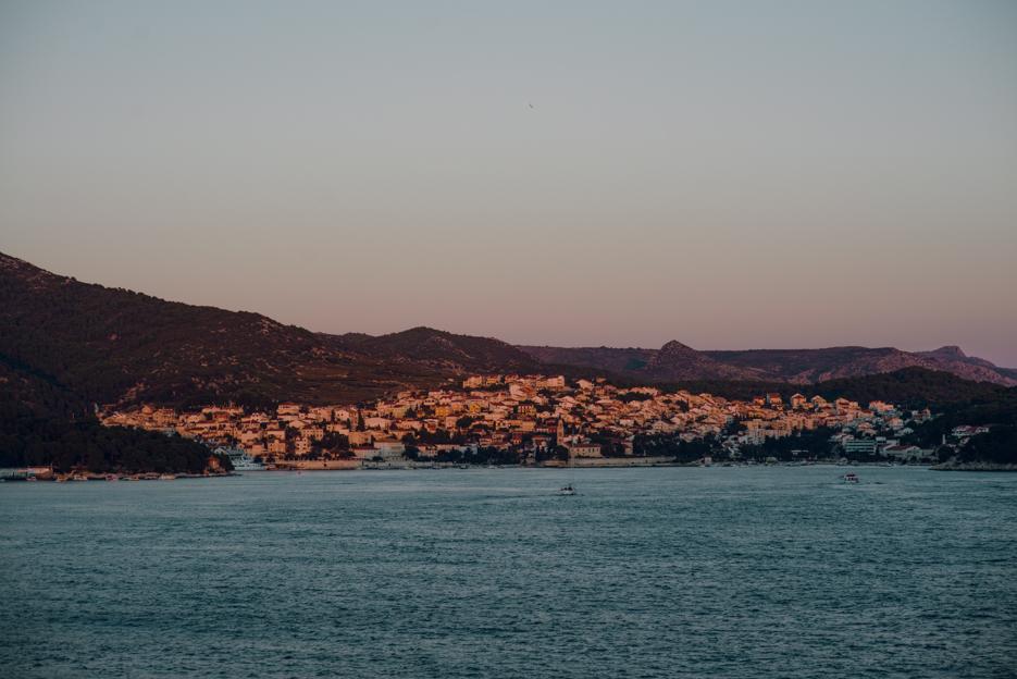 Sun hitting this city of Hvar.