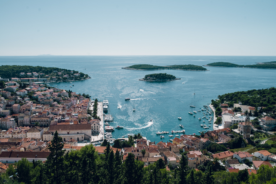 View of the city of Hvar from the fortress.