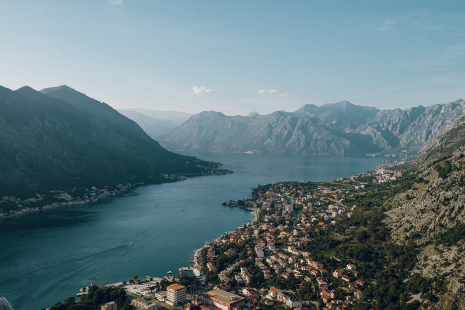 The view of Kotor from the fortress.