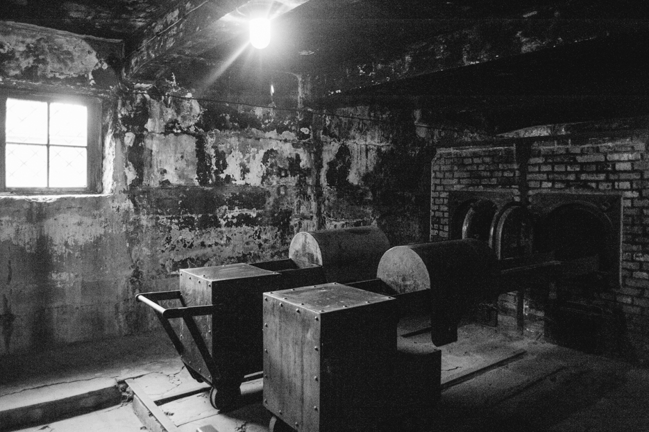 Cremation ovens. Only one of many remained standing after the Nazis attempted to destroy evidence of their crimes.