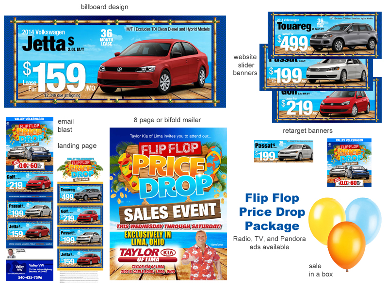Summer Direct Mail Digital Campaign Automotive