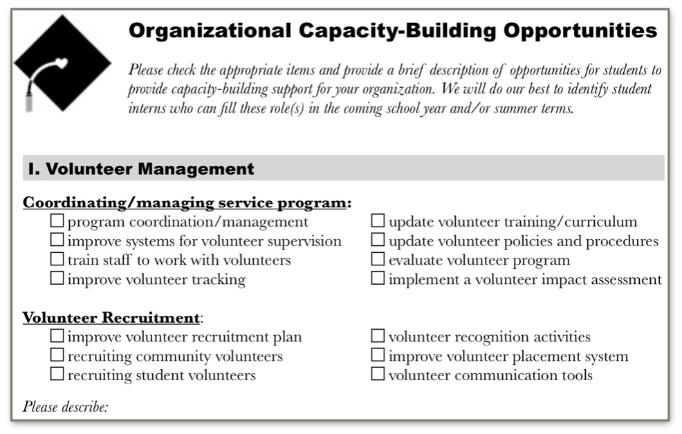 Click    to view the Capacity-Building Opportunities Form.