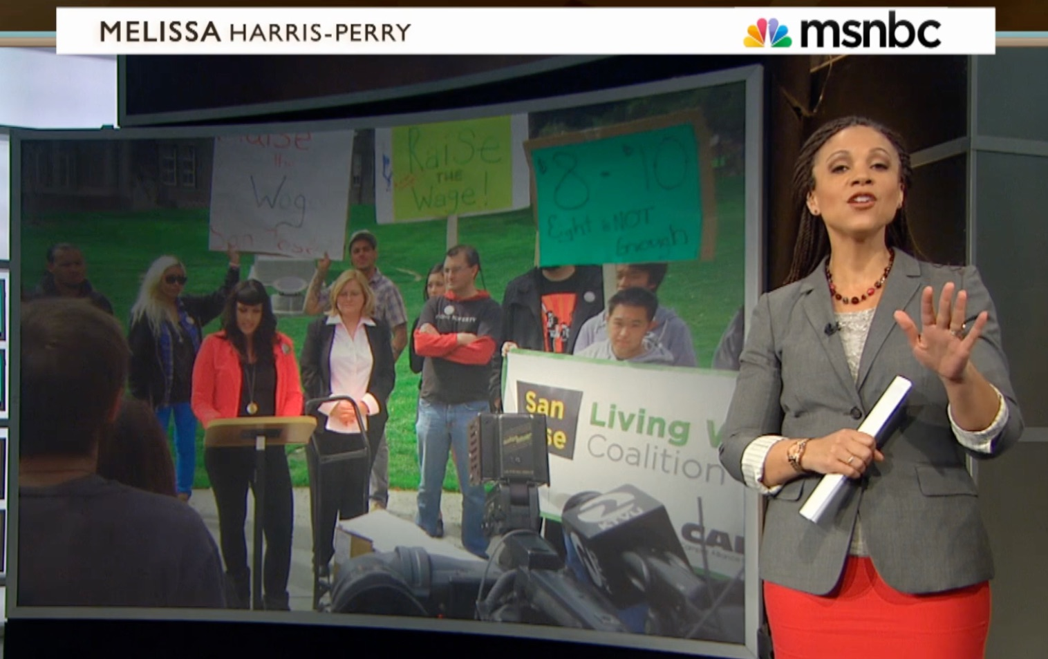 MSNBC Coverage of successful San Jose minimum wage campaign.  Click  to watch story.
