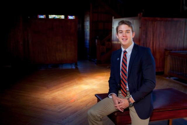 As a Bonner Leader, Sam Kern, C'19, works at Pelham Elementary School, encouraging healthy eating and exercise among schoolchildren. He also recently started a Rotaract chapter at Sewanee.