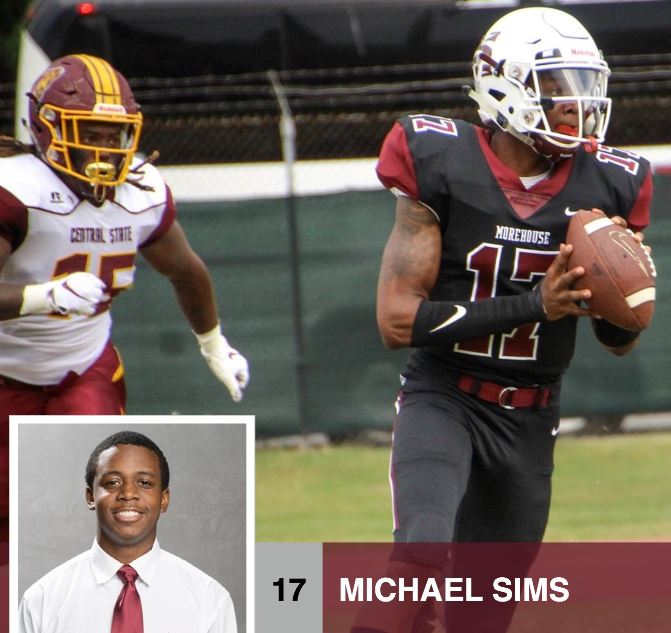 Michael Sims, all-conference quarterback and Bonner Scholar