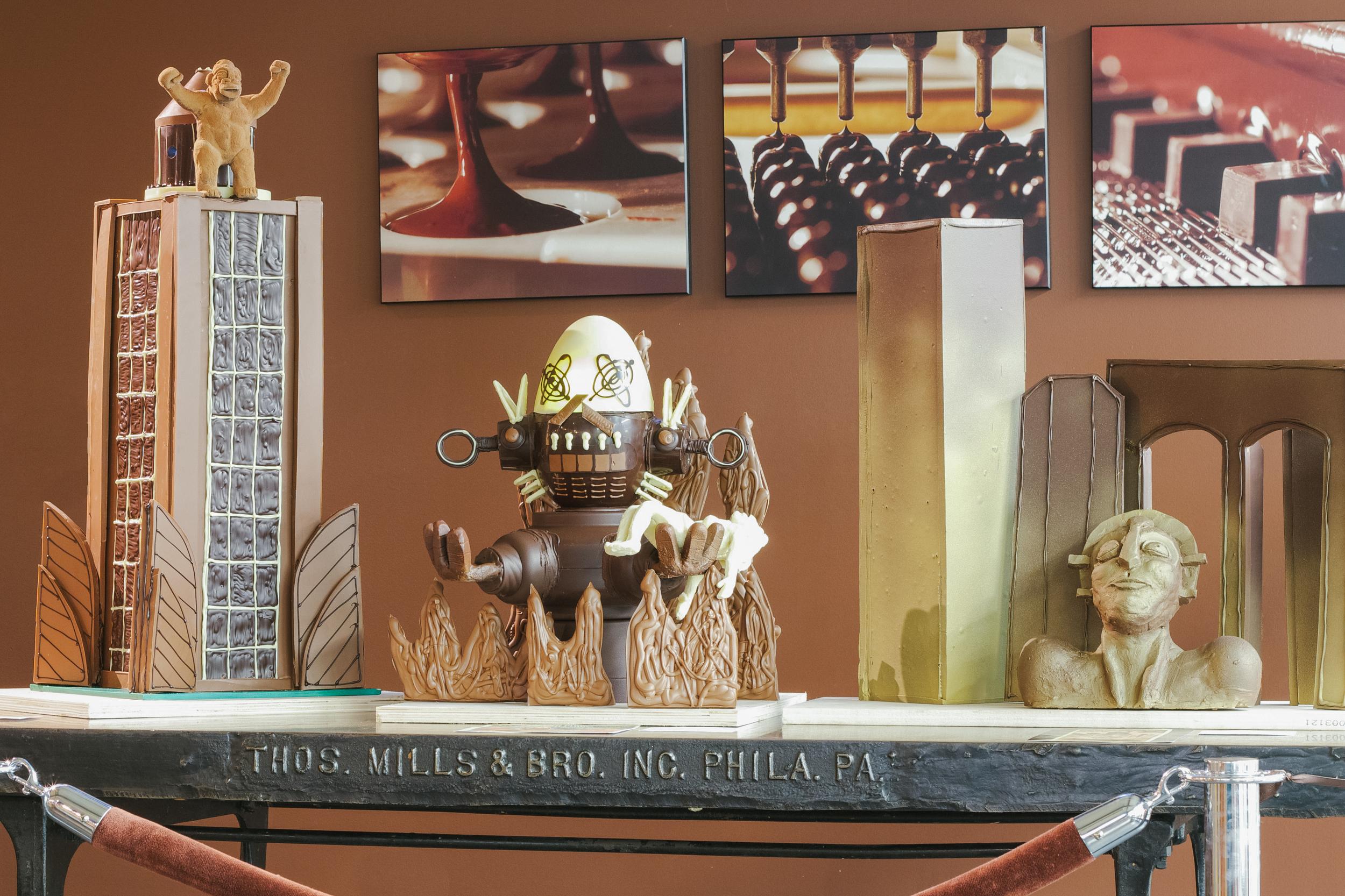 Chocolate Retro Sci-fi Movie Sculptures.jpg