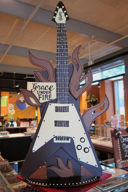 "Grace Potter's Chocolate Flying ""V"" Guitar"